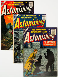 Astonishing #48, 62, and 63 Group (Atlas, 1956-57) Condition: Average FN.... (Total: 3 Comic Books)