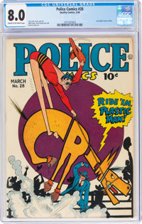 Police Comics #28 (Quality, 1944) CGC VF 8.0 Cream to off-white pages