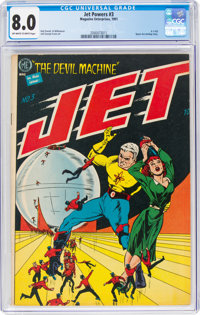 Jet Powers #3 (Magazine Enterprises, 1951) CGC VF 8.0 Off-white to white pages