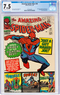 The Amazing Spider-Man #38 (Marvel, 1966) CGC VF- 7.5 Off-white to white pages