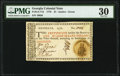 Colonial Notes:Georgia, Georgia 1776 $1 PMG Very Fine 30. The paper co...
