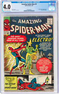 The Amazing Spider-Man #9 (Marvel, 1964) CGC VG 4.0 Off-white to white pages