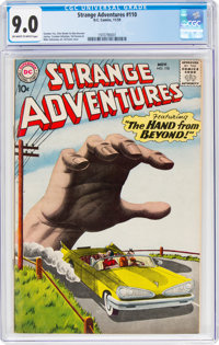 Strange Adventures #110 (DC, 1959) CGC VF/NM 9.0 Off-white to white pages