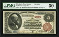 Belvidere, NJ - $5 1882 Brown Back Fr. 474 The Warren County National Bank Ch. # 4980 PMG Very Fine 30