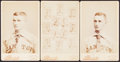 Baseball Cards:Lots, 1887-88 Canton Minor League Cabinet Card Lot of 3....