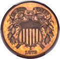 1872 2C MS64 Brown PCGS. CAC....(PCGS# 3612)