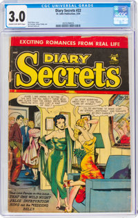 Diary Secrets #22 (St. John, 1954) CGC GD/VG 3.0 Cream to off-white pages