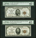 Fr. 1850-B $5 1929 Federal Reserve Bank Note. PMG Superb Gem Unc 67 EPQ; Fr. 1870-G $20 1929 Federal Reserve Ba