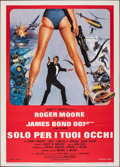 """Movie Posters:James Bond, For Your Eyes Only (United Artists, 1981). Folded, Very Fine. Italian 2 - Fogli (39.25"""" X 55"""") Brian Bysouth Artwork. James ..."""