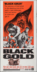 "Movie Posters:Adventure, Black Gold (Warner Bros., 1962). Folded, Very Fine-. Three Sheet (41"" X 79""). Adventure.. ..."