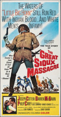 Movie Posters:Western, The Great Sioux Massacre (Columbia, 1965). Folded, Fine/Ve...