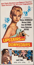Movie Posters:Comedy, Upstairs and Downstairs (20th Century Fox, 1960). Folded, ...