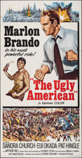 Movie Posters:Drama, The Ugly American (Universal, 1963). Folded, Fine/Very Fin...