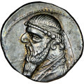 Ancients:Oriental, Ancients: PARTHIAN KINGDOM. Mithradates II (ca. 121-91 BC). AR drachm (20mm, 12h). NGC AU★ ....