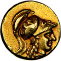 Ancients: MACEDONIAN KINGDOM. Alexander III the Great (336-323 BC). AV stater (17mm, 8.40 gm, 6h). NGC Choice XF 4/5 - 3...