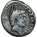 Ancients: Marc Antony and Octavian, as Triumvirs and Imperators (44-30 BC). AR denarius (20mm, 9h). NGC VG, bankers mark...