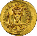 Ancients:Byzantine, Ancients: Phocas (AD 602-610). AV solidus (21mm, 4.47 gm, 6h). NGC MS 4/5 - 4/5....
