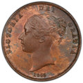 Great Britain: Victoria Penny 1855 MS64 Red and Brown PCGS
