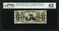 Fractional Currency:Third Issue, Fr. 1372 50¢ Third Issue Justice PMG Choice Uncirculated 63.. ...