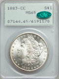 1883-CC $1 MS65 PCGS. CAC. PCGS Population: (9080/2713). NGC Census: (4438/1155). CDN: $315 Whsle. Bid for problem-free...