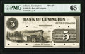 Obsoletes By State:Indiana, Covington, IN- Bank of Covington $5 18__ as G6 Wolka 0460-05 Proof PMG Gem Uncirculated 65 EPQ.. ...