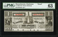 Obsoletes By State:Massachusetts, Charlestown, MA- Bunker Hill Bank $1 18__ G8a Proof PMG Choice Uncirculated 63.. ...