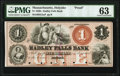 Obsoletes By State:Massachusetts, Holyoke, MA- Hadley Falls Bank $1 18__ as G2a Proof PMG Choice Uncirculated 63.. ...