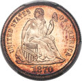 Proof Seated Dimes, 1870 10C PR66 Cameo PCGS. CAC. F-101, R.3....