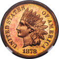Proof Indian Cents, 1878 1C PR66 Red Cameo NGC. Snow-PR6....