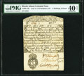 Colonial Notes:Rhode Island, Rhode Island July 5, 1715 Redated 1721 4s 6d Fr. RI-12b PMG Extremely Fine 40 Net.. ...
