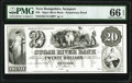 Obsoletes By State:New Hampshire, Newport, NH-Sugar River Bank $20 18__ as G12 Proprietary Proof PMG Gem Uncirculated 66 EPQ.. ...