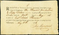 """Pennsylvania Continental Loan Officer Form, Philadelphia """"Received of Thomas Smith"""" for $3,450 May 4, 1786 Unc..."""
