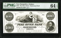 Ossipee, NH- Pine River Bank $100 18__ as G16 Proprietary Proof PMG Choice Uncirculated 64 EPQ