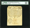 Province of New Hampshire December 25, 1734 Portsmouth Merchants' Note 2 Shillings Fr. NH-38.2. PMG Choice Fine 15 Net.&...