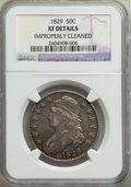 Bust Half Dollars, 1829 50C -- Improperly Cleaned -- NGC Details. XF. NGC Census: (87/853). PCGS Population: (267/1470). XF40. Mintage 3,712,1...