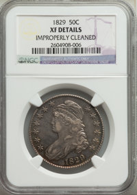 1829 50C -- Improperly Cleaned -- NGC Details. XF. NGC Census: (87/853). PCGS Population: (267/1470). XF40. Mintage 3,71...