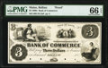 Obsoletes By State:Maine, Belfast, ME- Bank of Commerce $3 18__ as G6 Wait 8 Proof PMG Gem Uncirculated 66 EPQ.. ...