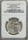Commemorative Silver, 1915-S 50C Panama-Pacific -- Improperly Cleaned -- NGC Details. Unc. NGC Census: (1/2533). PCGS Population: (29/3131). MS60...