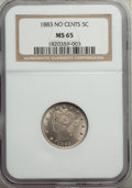 Liberty Nickels: , 1883 5C No Cents MS65 NGC. NGC Census: (1948/546). PCGS Population: (1724/534). CDN: $175 Whsle. Bid for problem-free NGC/P...