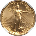 1991 $10 Quarter-Ounce Gold Eagle MS70 NGC. NGC Census: (265). PCGS Population: (50). CDN: $1,700 Whsle. Bid for problem...