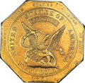 1851 $50 RE Augustus Humbert, United States Assayer of Gold, Fifty Dollars, Reeded Edge, 887 Thous.--Harshly Cleaned--PC...