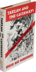 Books:First Editions, Edgar Rice Burroughs. Tarzan and the Castaways. New York: Canaveral Press, Inc., 1965. First edition....