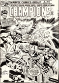 Original Comic Art:Covers, Jack Kirby and Frank Giacoia Champions #6 Cover Original Art (Marvel, 1976)....