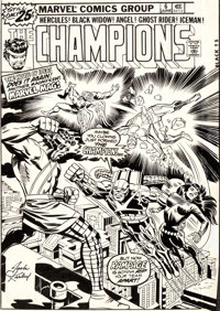 Jack Kirby and Frank Giacoia Champions #6 Cover Original Art (Marvel, 1976)