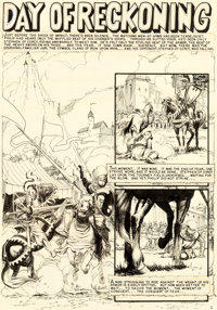"Al Williamson and George Evans Valor #5 Complete 7-Page Story ""Day of Reckoning"" Original Art (EC, 1955).... (..."