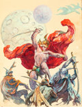 Original Comic Art:Covers, Frank Frazetta Swordsmen in the Sky Paperback Novel Cover Painting Original Art (Ace, 1964)....