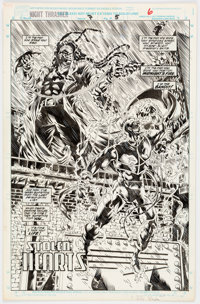 David Boller and Jeff Albrecht Night Thrasher #7 Splash Page 5 Original Art (Marvel Comics, 1994)