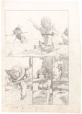"""Original Comic Art:Panel Pages, Barry Smith Aspect #2 Story Page 4 """"Tales of Hyperborea"""" Original Art (c. early 1970s)...."""