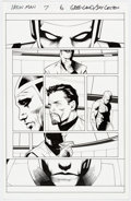 Original Comic Art:Panel Pages, Greg Land and Jay Leisten Iron Man #7 Story Page 6 Original Art (Marvel Comics, 2013) ...