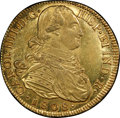 Colombia, Colombia: Charles IV gold 8 Escudos 1808 P-JF AU55 PCGS,...